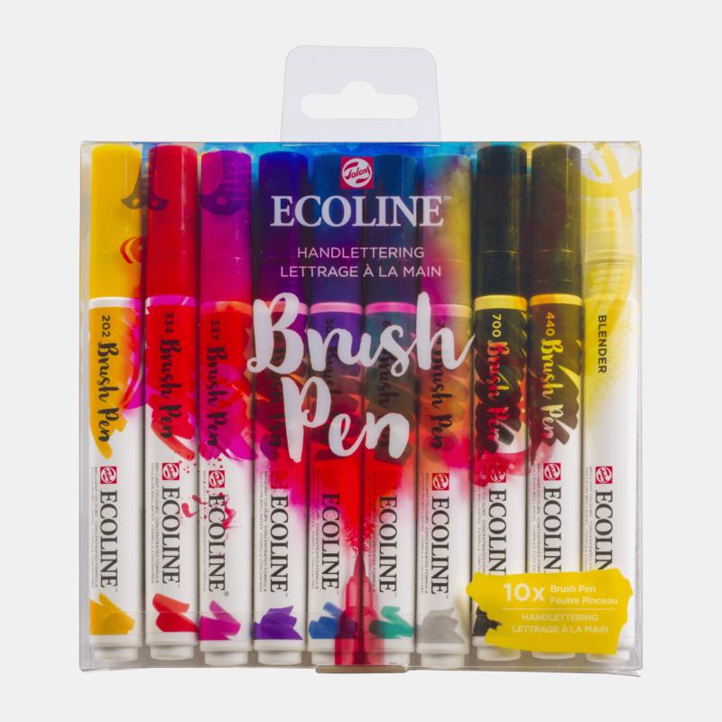 Ecoline Brush Pens X10 Handlettering