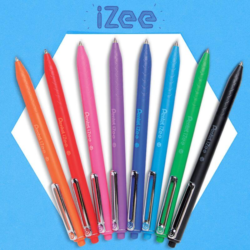 Pentel Izee Retractable 8 colours