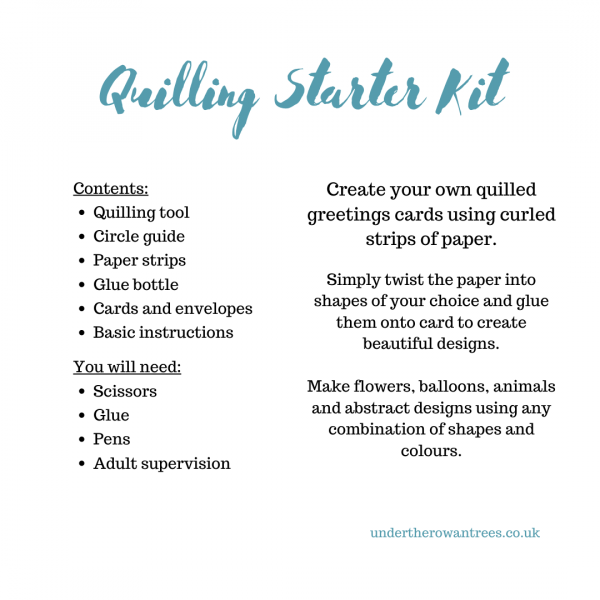 Quilling Starter Kit contents - see product description