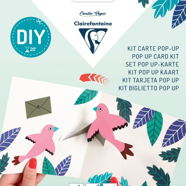 Pop-up Card Kit- Birds
