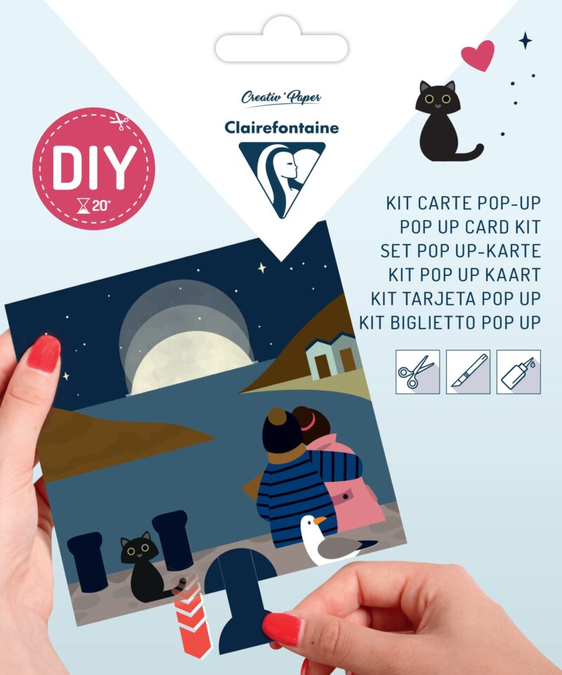 Pop-up Card Kit - Moon