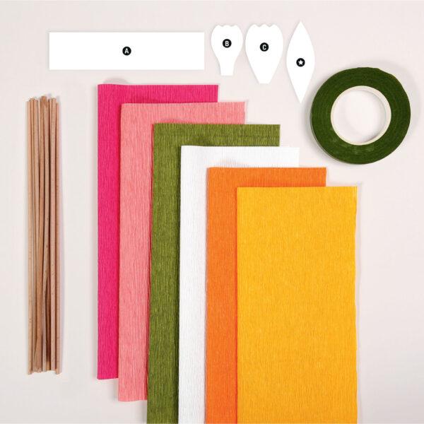 Crepe Paper Flowers Kit Contents