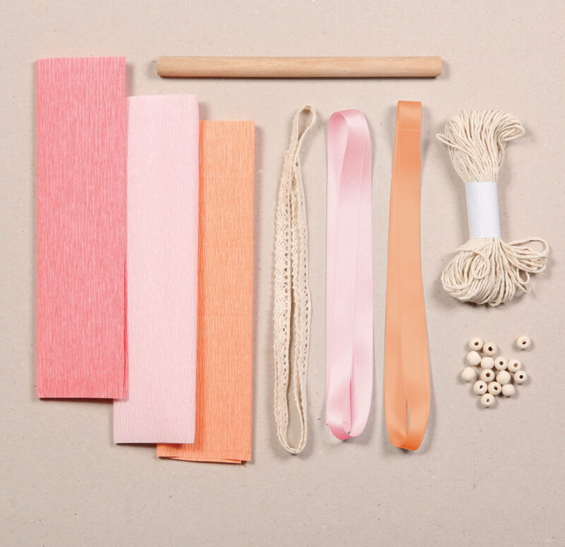 Crepe Paper Macrame Kit Contents