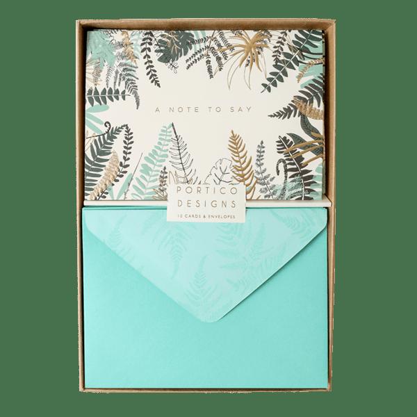 Fern Notecard Set Boxed