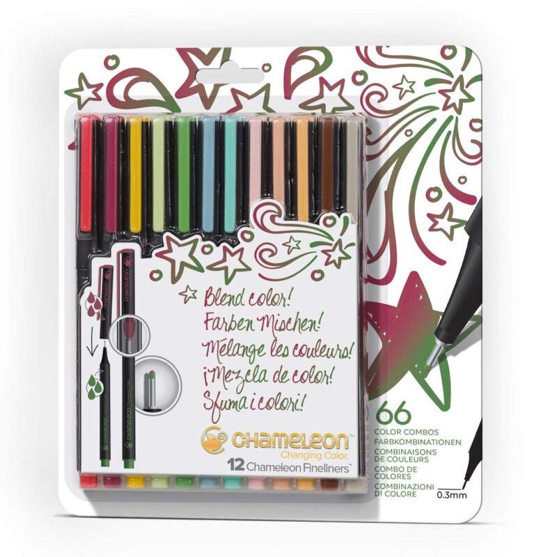 Chameleon Fineliner 12 Designer Colours