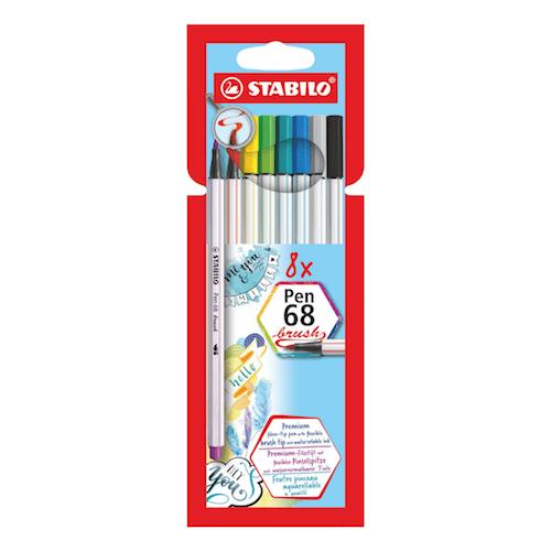 Stabilo 68 Brush Pens X8