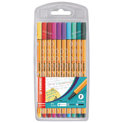 STABILO Point 88 Pens - Jewel Colours X10