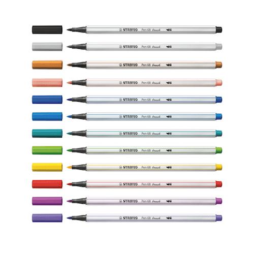 Stabilo 68 Brush Pens x12