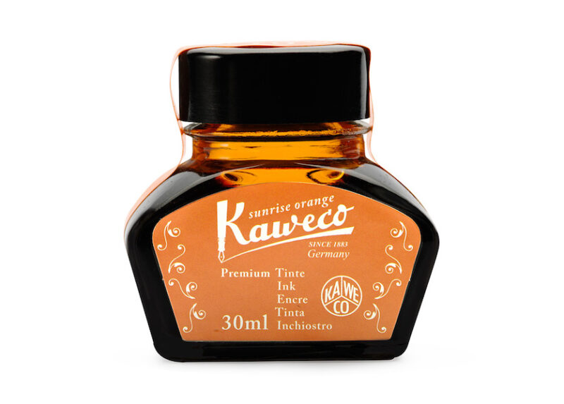 Kaweco Bottled Fountain Pen Ink - Sunrise Orange