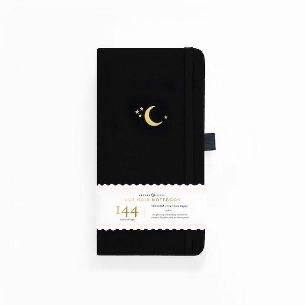 Traveller's Crescent Moon Dot Grid Notebook