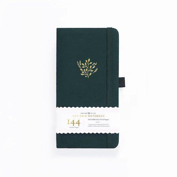 Traveller's Deep Green Dot Grid Notebook