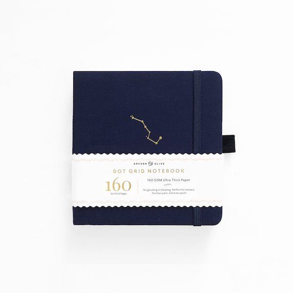 Square Night Sky Dot Grid Notebook