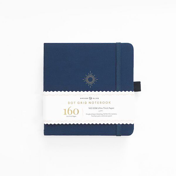 Square North Star Dot Grid Notebook