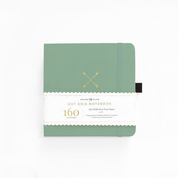 Square Twin Arrows Dot Grid Notebook