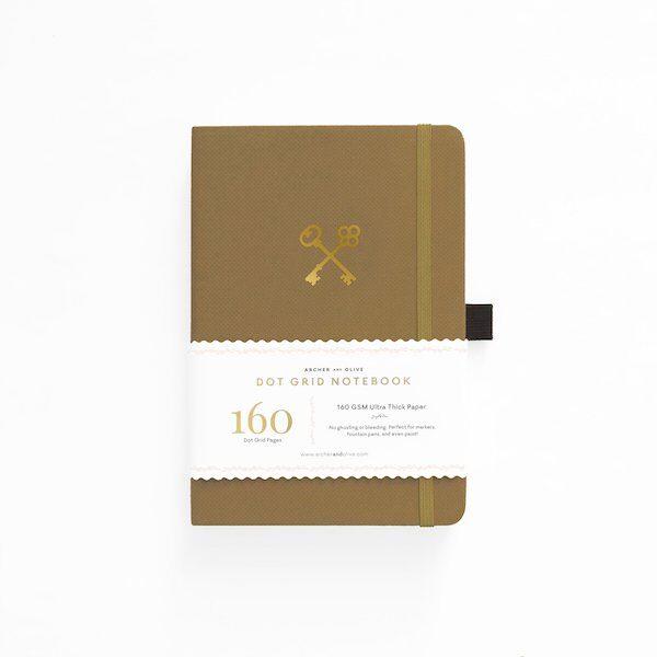 Secret Keeper Dot Grid Notebook Archer and Olive