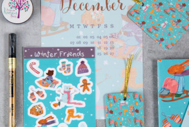 Aurore McLeod's Winter Friends Rowan Berry Box