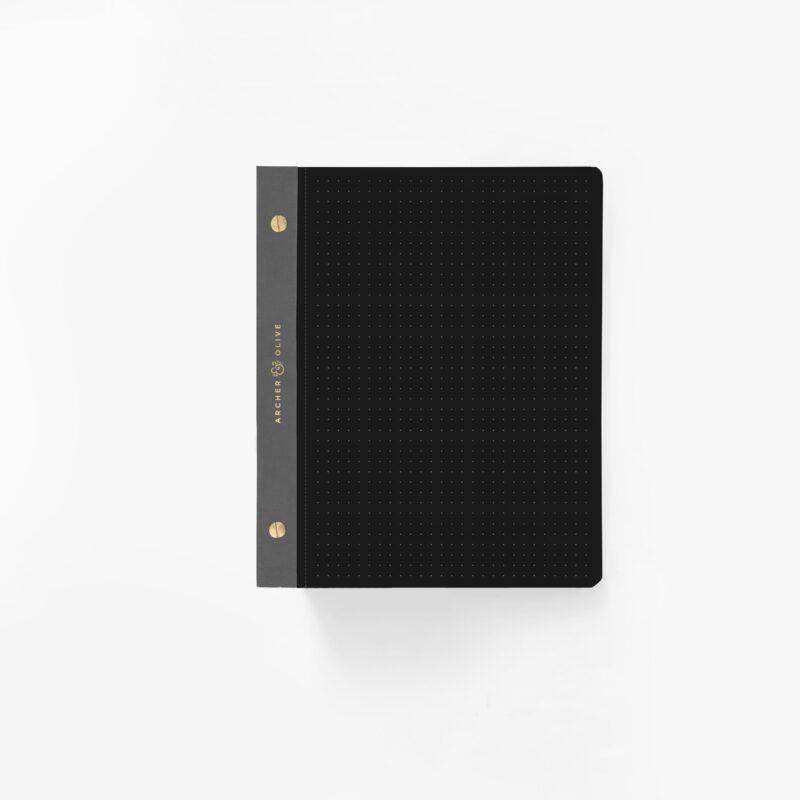 A5 Dot Grid Notepad - Black