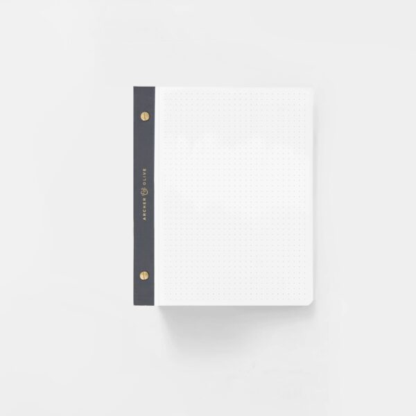 A5 Dot Grid Notepad White