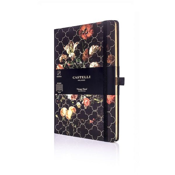 Vintage Floral Lined Notebook Tulip