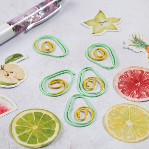 Novelty Paper Clips - Avocado