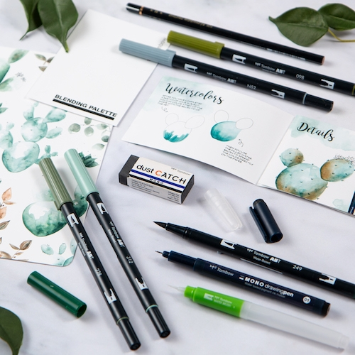 Tombow Watercolouring Set Greenery