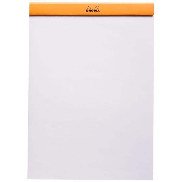 Rhodia Head-Stapled Notepad No 18 A4 Plain