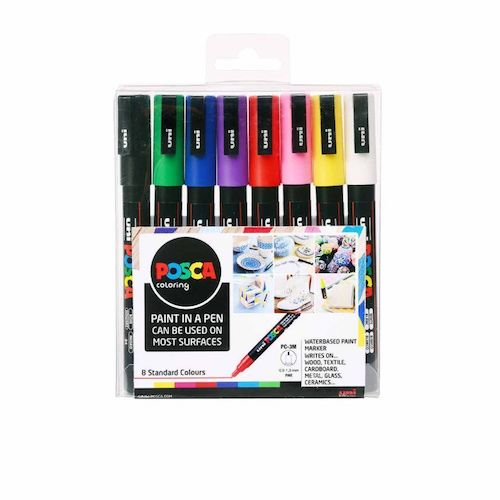 Posca PC-3M Markers Standard Colours X8