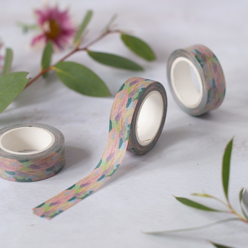 Muted Leaf Washi Tape - Sparkly