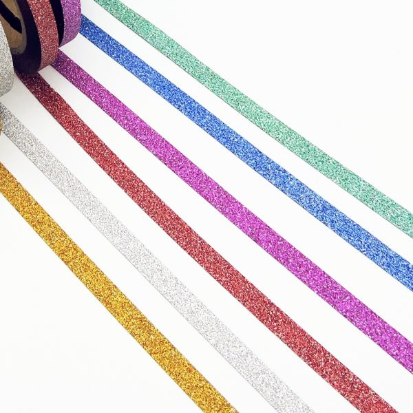 Skinny Glitter Washi Tape - Set of 6