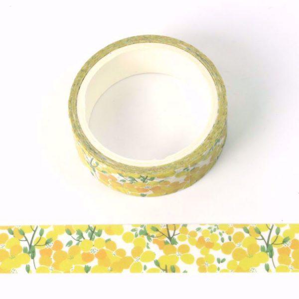 Beautiful Washi Tape Yellow Flowers