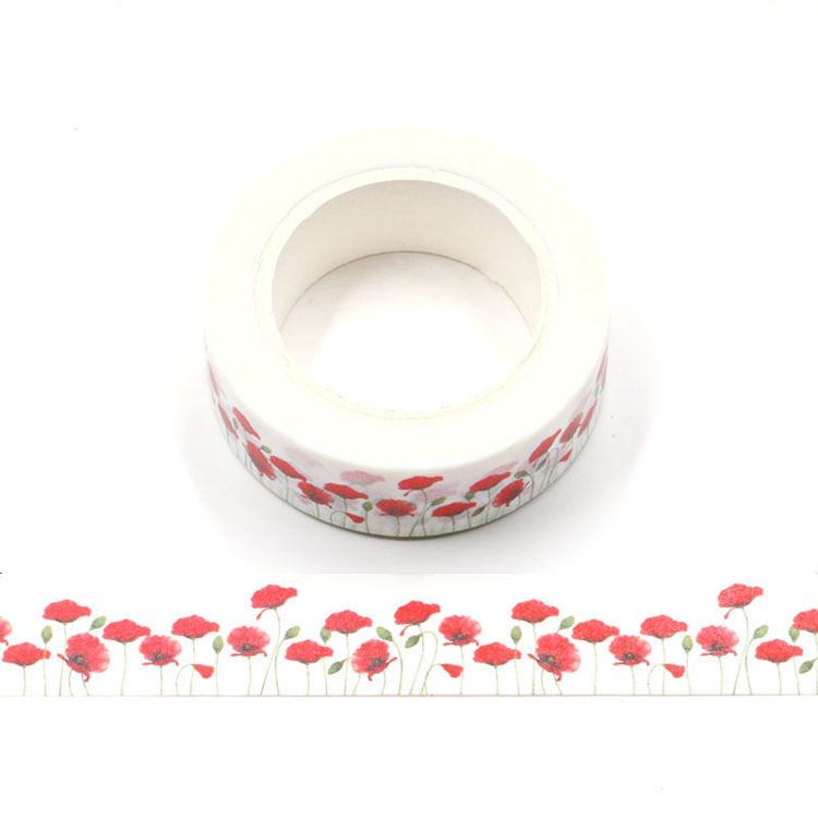 Floral Washi Tape - Poppies