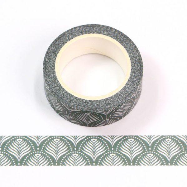Beautiful Washi Tape Peacock Pattern