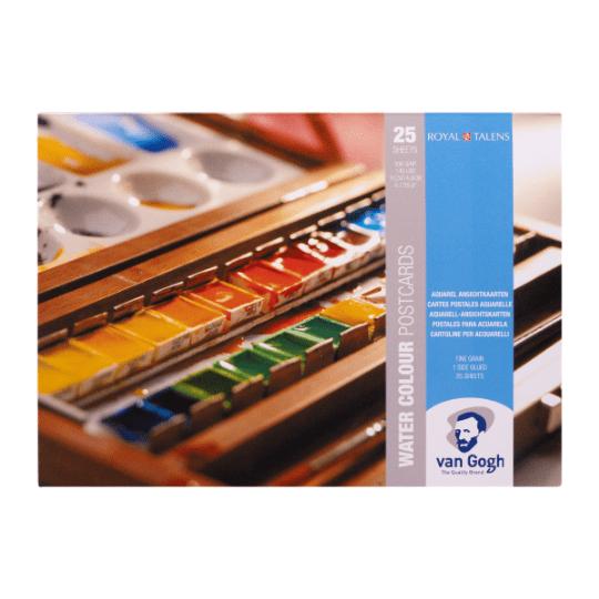 Watercolour Postcards - White