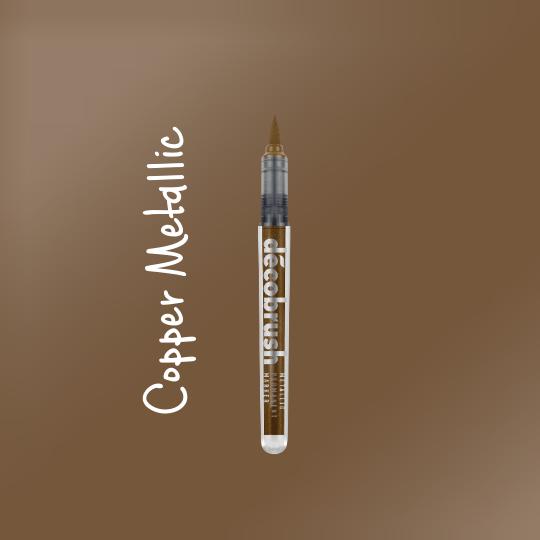 Karin DecoBrush Metallic Brush Pens Copper