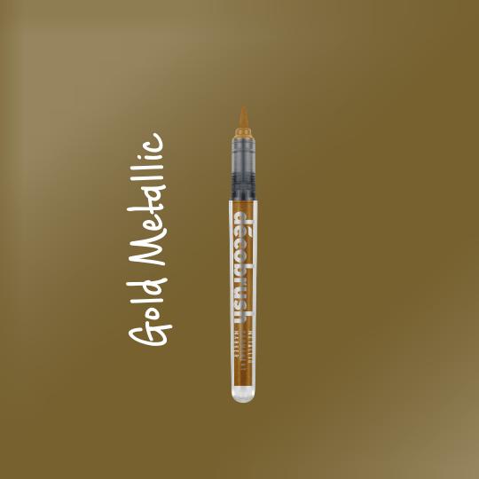 Karin DecoBrush Metallic Brush Pens Gold