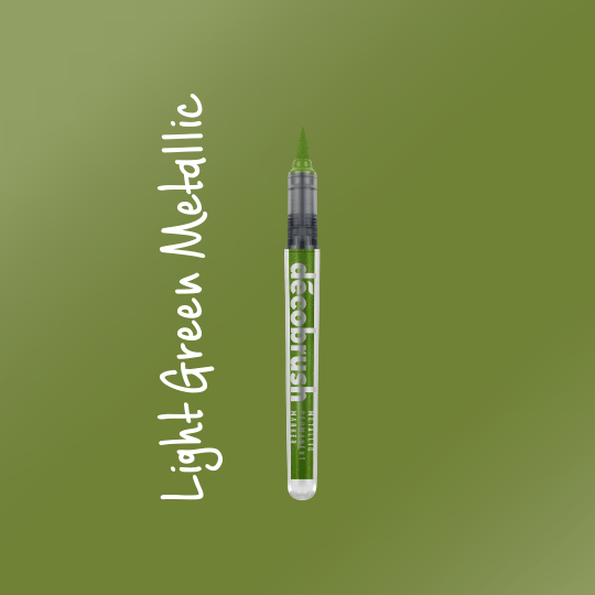Karin DecoBrush Metallic Brush Pens Light Green