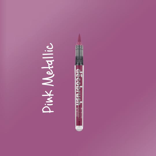 Karin DecoBrush Metallic Brush Pens Pink