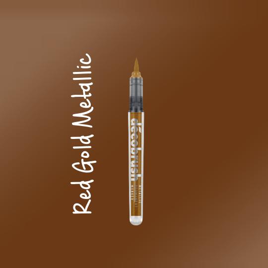 Karin DecoBrush Metallic Brush Pens Red Gold