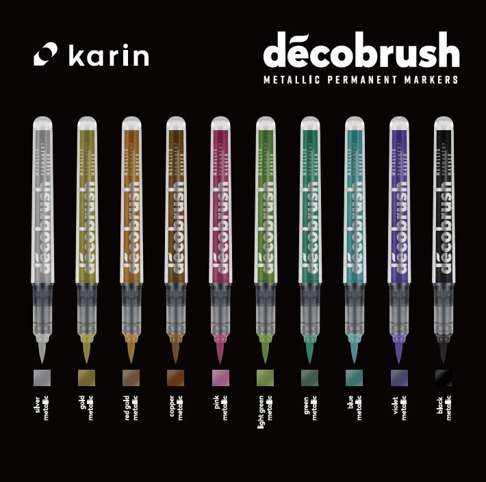 Karin DecoBrush Metallic Brush Pens