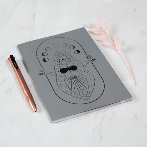 Goddess Lined Notebook A5