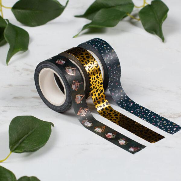 Black Patterned Washi Tape