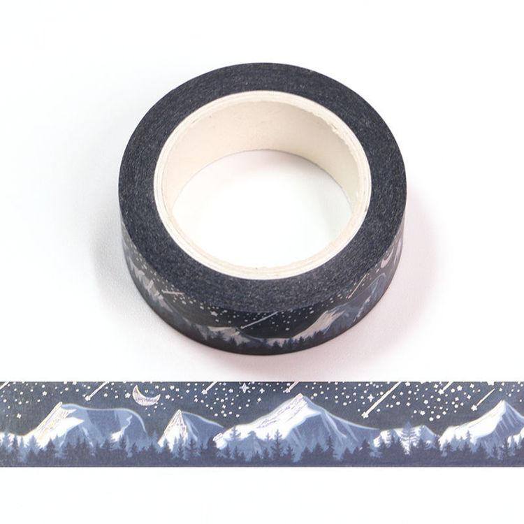 Mountain Washi Tape - black with shooting stars