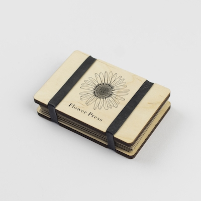 Pocket Flower Press - Line Drawing - Sunflower