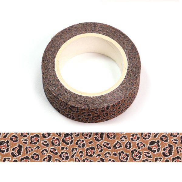 Animal Print Glitter Washi Tape