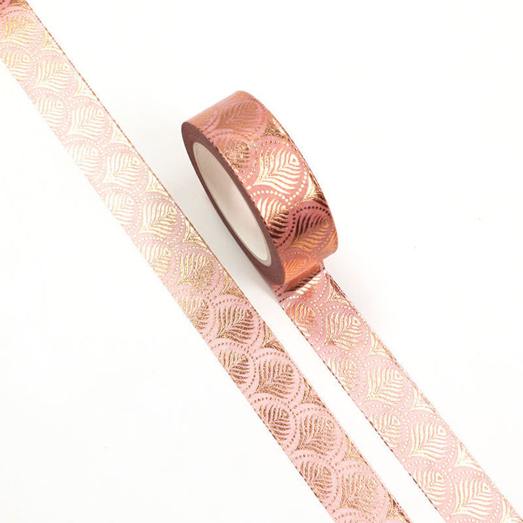 Rose gold peacock feather washi tape