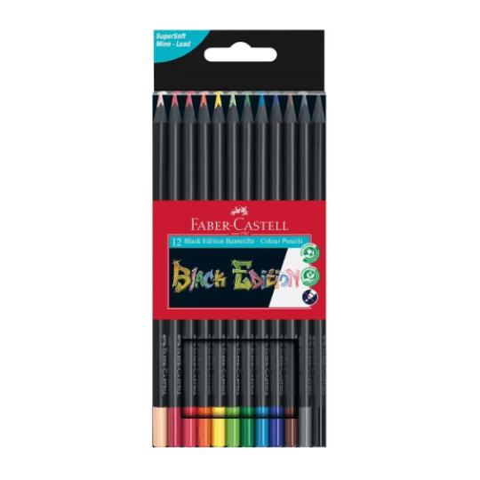 Black Edition Colour Pencils x 12
