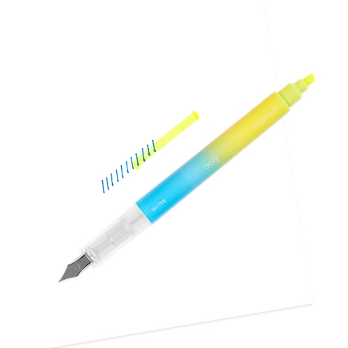 Writer's Duo 2 in 1 Fountain Pen and Highlighter