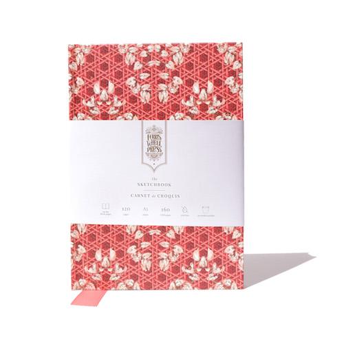 A5 Sketchbook Enveloped in Rattan - Red