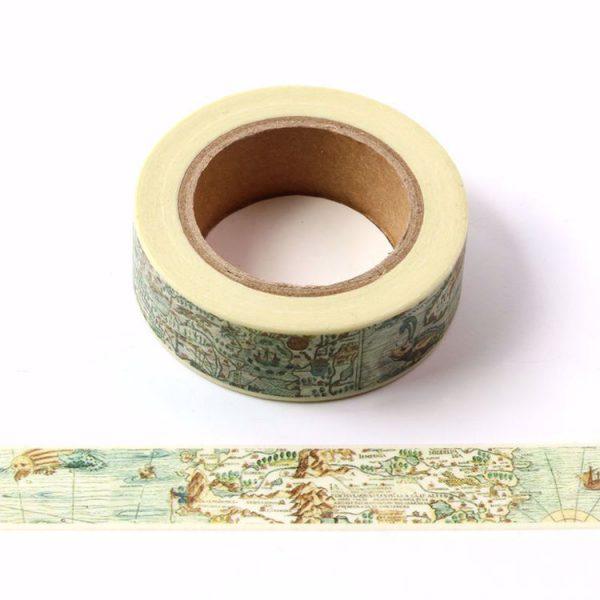 Vintage Map Washi Tape