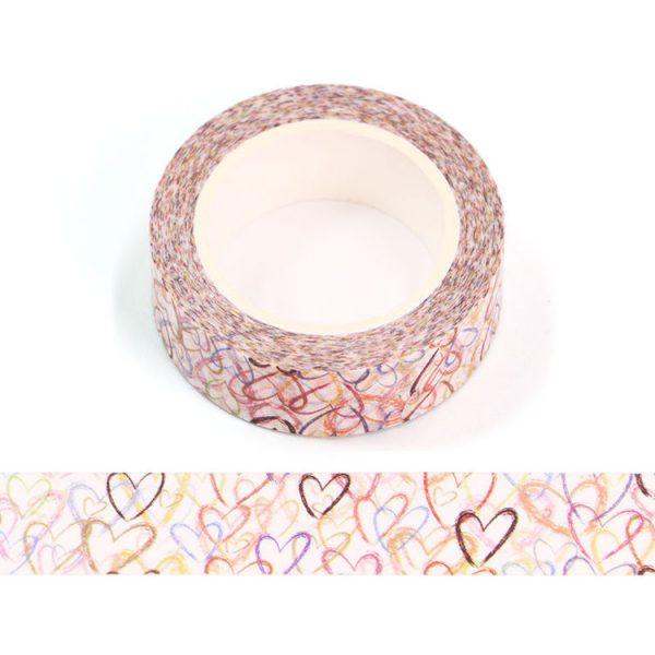 Scribble Heart Washi Tape